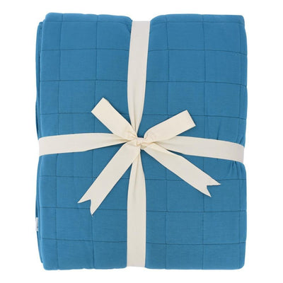 Adult Quilted Blanket in Teal - Kyte Baby