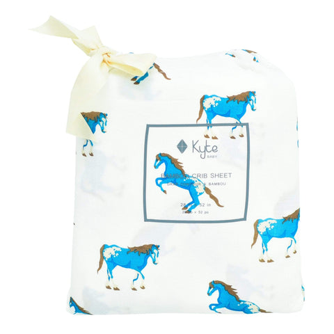 Kyte BABY Crib Sheet Crib Sheet / Horse Printed Fitted Sheet in Horse