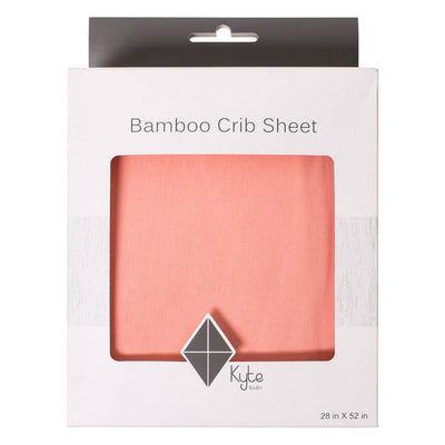 Crib Sheet in Peach - Kyte Baby
