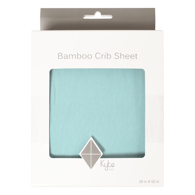 Crib Sheet in Seafoam - Kyte Baby