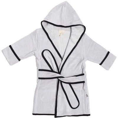 Bath Robe in Storm with Midnight Trim - Kyte Baby