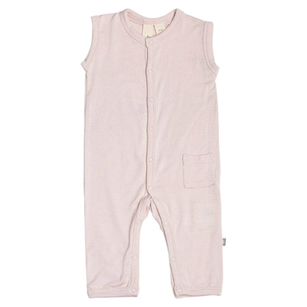 Sleeveless Romper in Blush - Kyte Baby