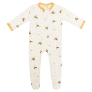 Kyte BABY Layette Buzz / Newborn Printed Zippered Footie in Buzz