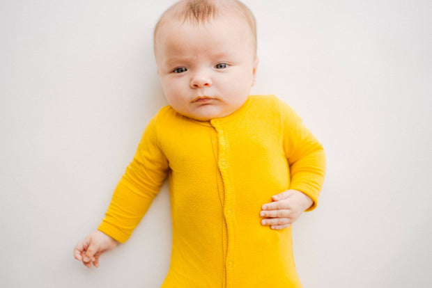 Footie in Mustard - Kyte Baby