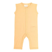 Kyte BABY Layette Honey / 0-3 months Sleeveless Romper in Honey