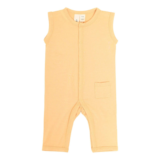 Sleeveless Romper in Honey - Kyte Baby