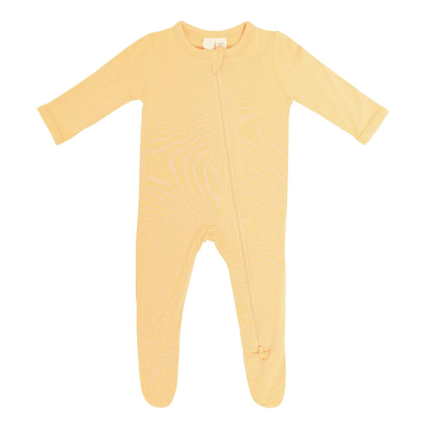 Kyte BABY Layette Honey / Newborn Zippered Footie in Honey