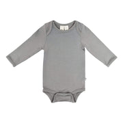 Kyte BABY Layette Long Sleeve Bodysuit in Chrome