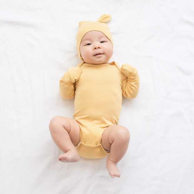 Kyte BABY Layette Long Sleeve Bodysuit in Honey