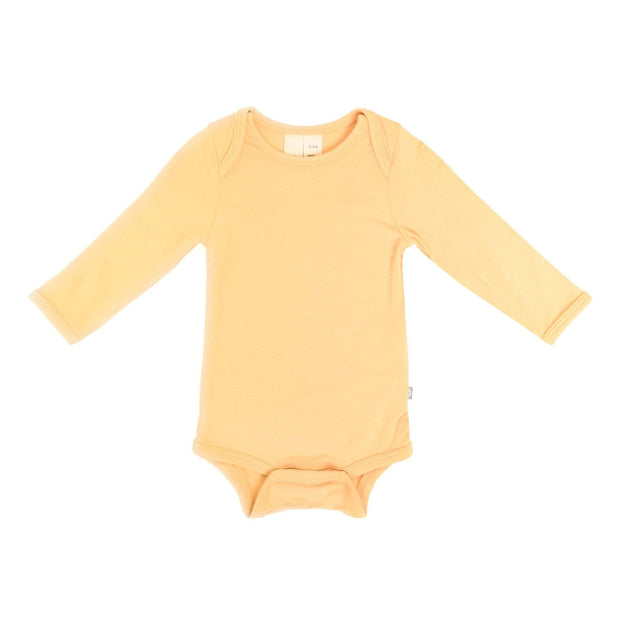 Kyte BABY Layette Newborn / Honey Long Sleeve Bodysuit in Honey