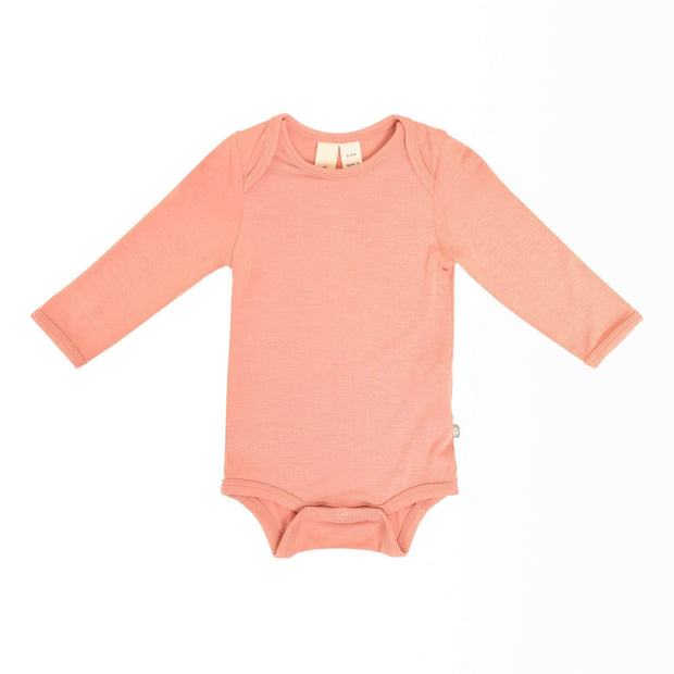 Kyte BABY Layette Newborn / Terracotta Long Sleeve Bodysuit in Terracotta