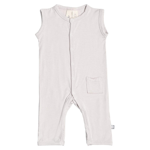 Sleeveless Romper in Oat - Kyte Baby