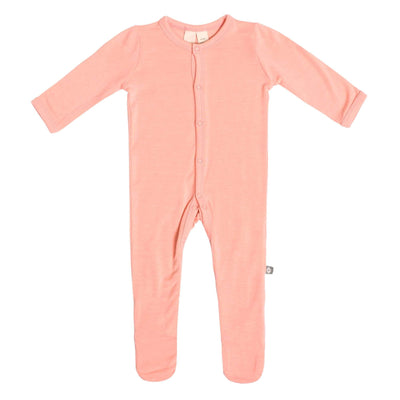 Footie in Peach - Kyte Baby