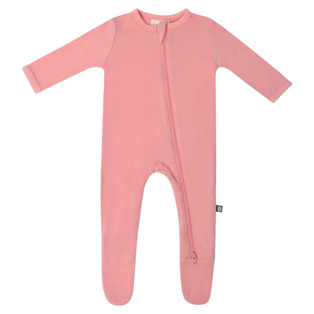 Kyte BABY Layette Peach / Newborn Zippered Footie in Peach