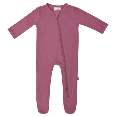Zippered Footie in Plum - Kyte Baby