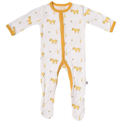 Printed Footie in Savanna - Kyte Baby