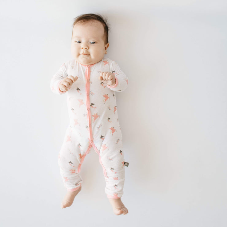 Printed Romper in Mythical - Kyte Baby