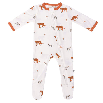 Kyte BABY Layette Printed Zippered Footie in African
