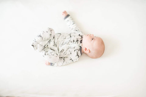 Kyte BABY Layette Printed Zippered Footie in Charcoal Marble