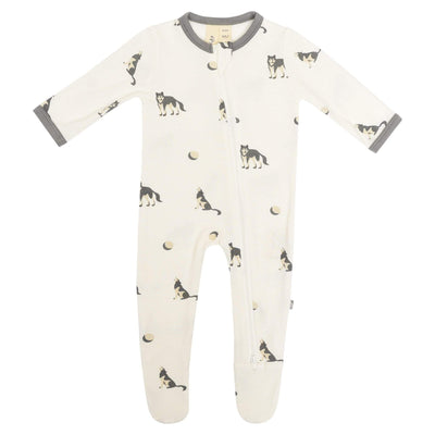 Printed Zippered Footie in Howl - Kyte Baby
