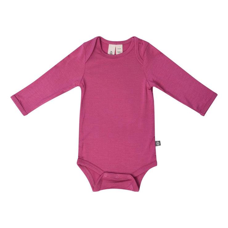Long Sleeve Bodysuit in Sangria - Kyte Baby