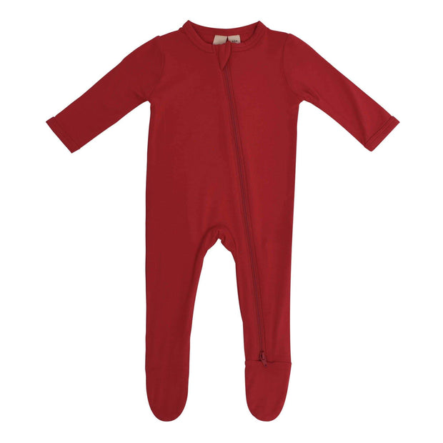 Zippered Footie in Scarlet - Kyte Baby