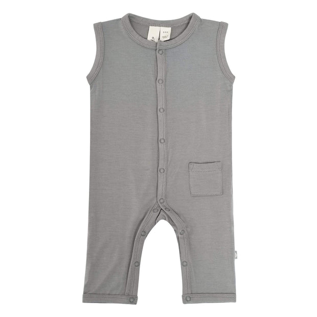 Kyte BABY Layette Sleeveless Romper in Chrome