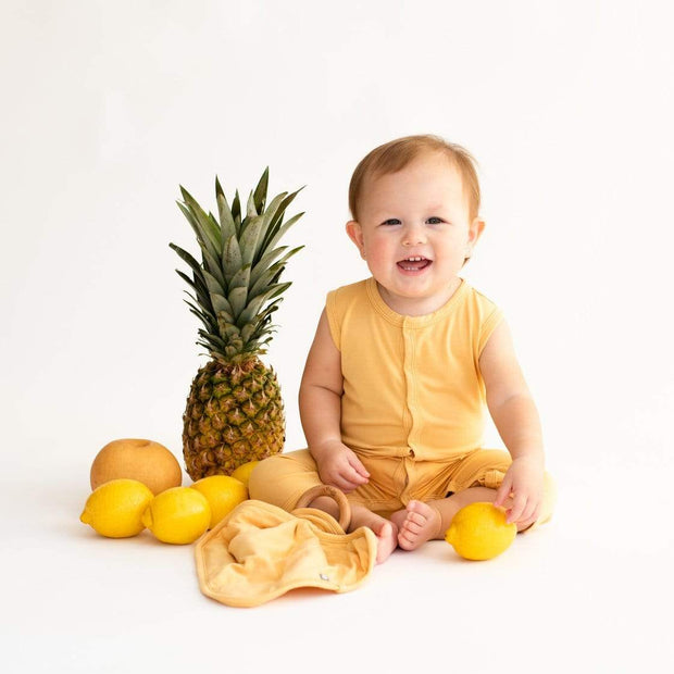 Kyte BABY Layette Sleeveless Romper in Honey