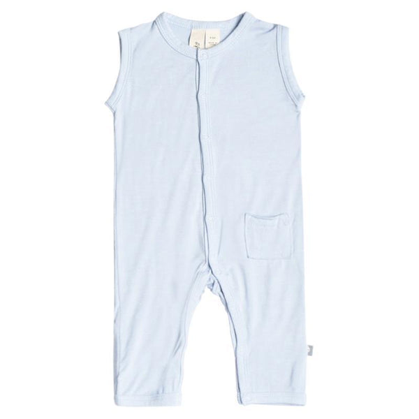 Kyte BABY Layette Sleeveless Romper in Ice