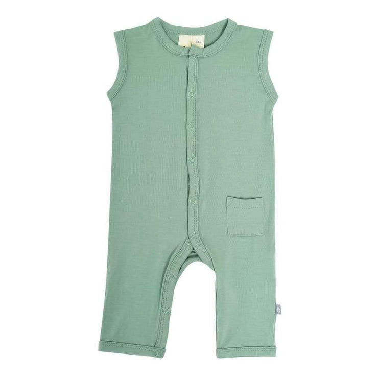 Sleeveless Romper in Matcha - Kyte Baby