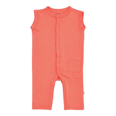 Kyte BABY Layette Sleeveless Romper in Melon