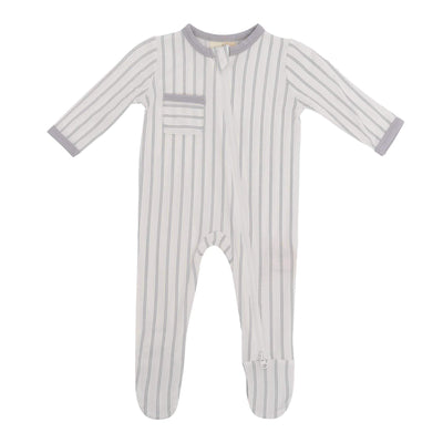 Zippered Footies in Storm Stripes - Kyte Baby
