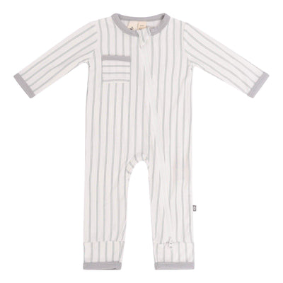 Zippered Romper in Storm Stripes - Kyte Baby