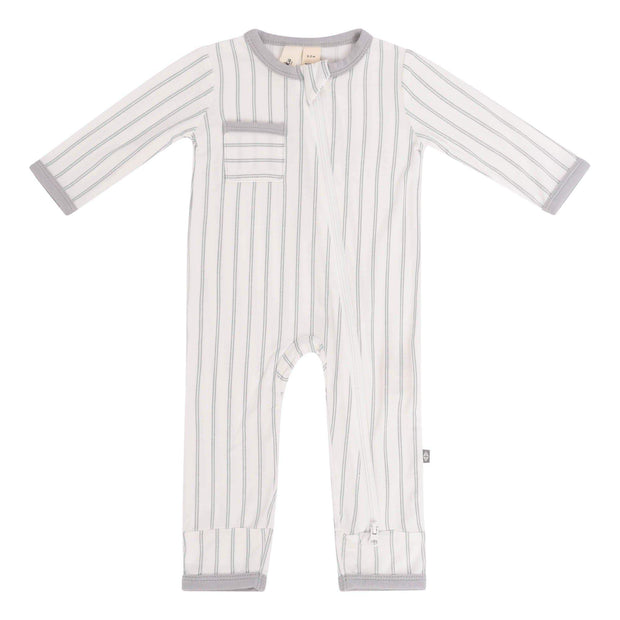 Kyte BABY Layette Storm Stripes / Newborn Zippered Romper in Storm Stripes