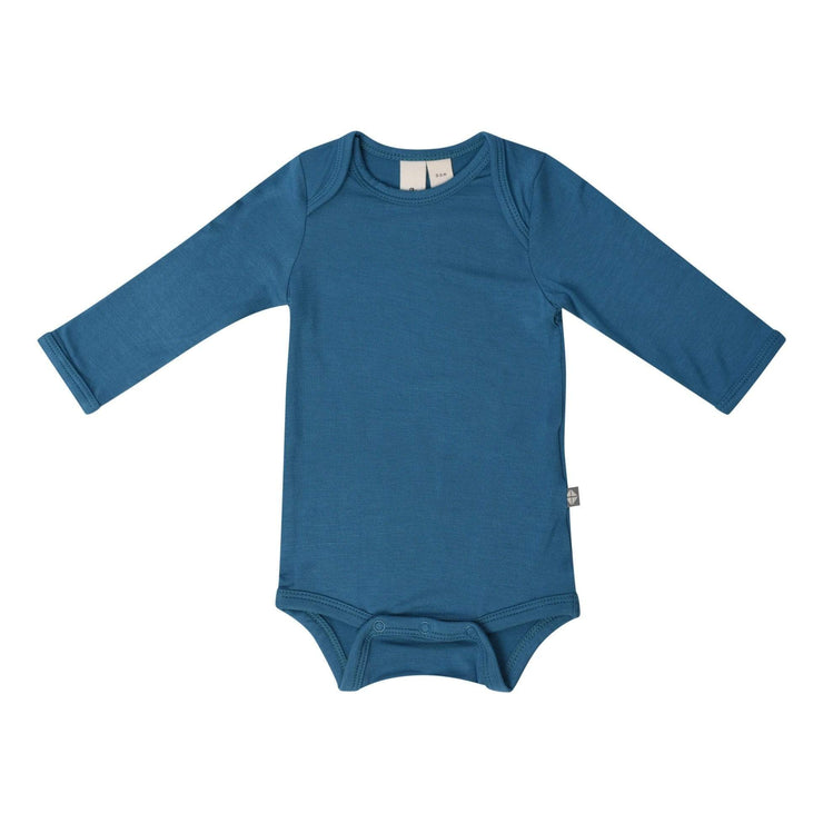 Long Sleeve Bodysuit in Teal - Kyte Baby