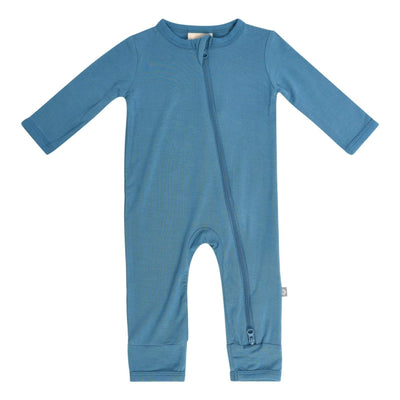 Zippered Romper in Teal - Kyte Baby