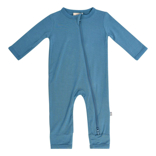 Kyte BABY Layette Teal / Newborn Zippered Romper in Teal