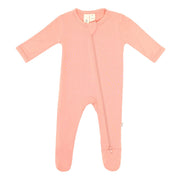 Kyte BABY Layette Terracotta / Newborn Zippered Footie in Terracotta