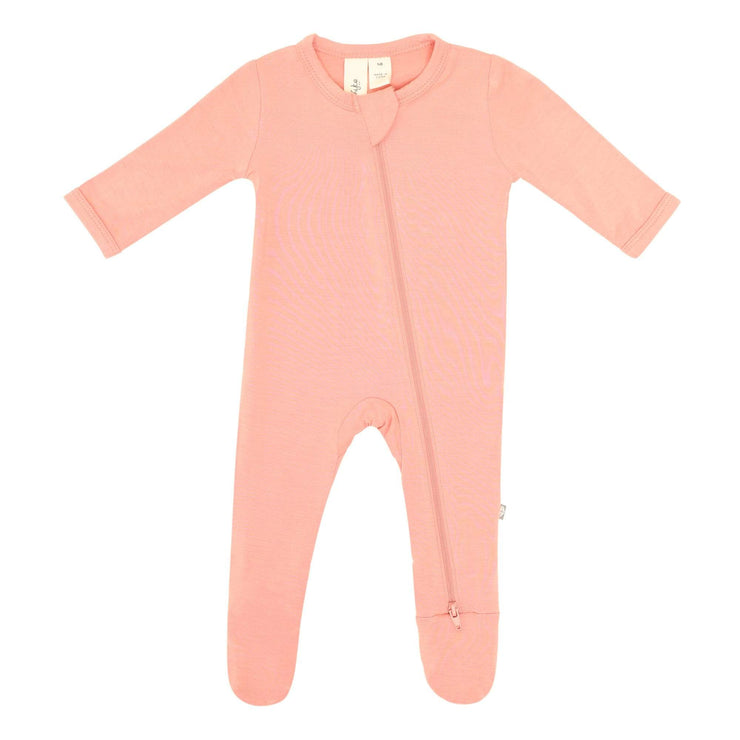 Zippered Footie in Terracotta - Kyte Baby