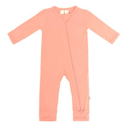 Kyte BABY Layette Terracotta / Newborn Zippered Romper in Terracotta