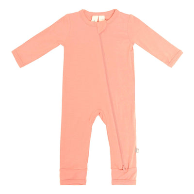 Zippered Romper in Terracotta - Kyte Baby