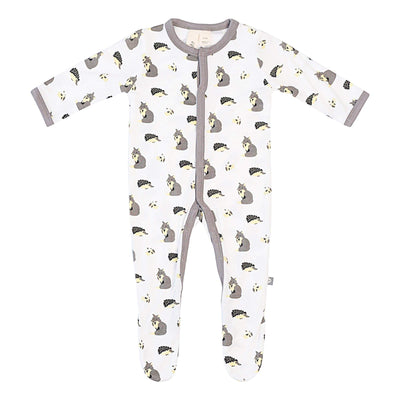 Printed Footie in Woodland - Kyte Baby