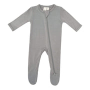 Kyte BABY Layette Zippered Footie in Chrome