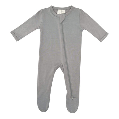 Zippered Footie in Chrome - Kyte Baby