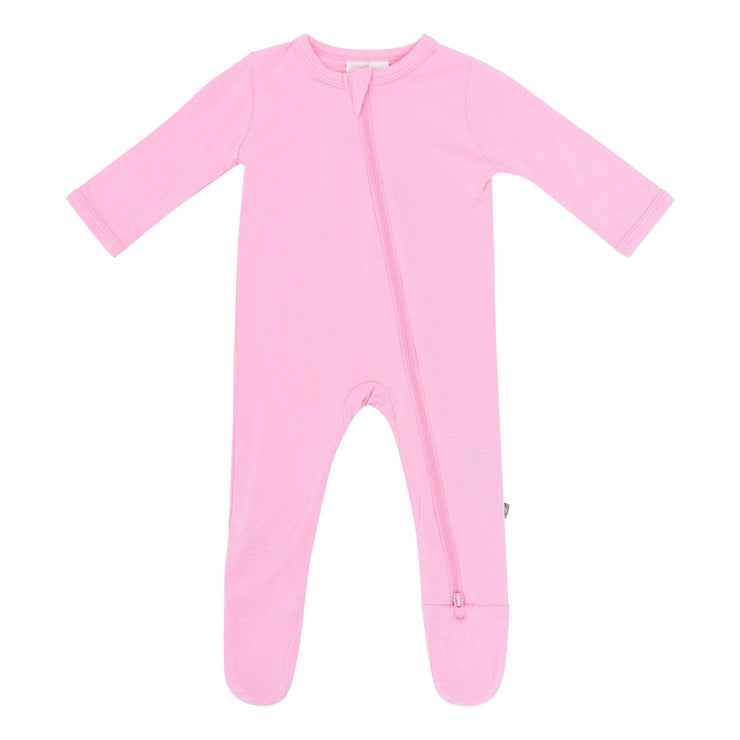 Zippered Footie in Petal - Kyte Baby