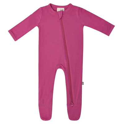 Kyte BABY Layette Zippered Footie in Sangria