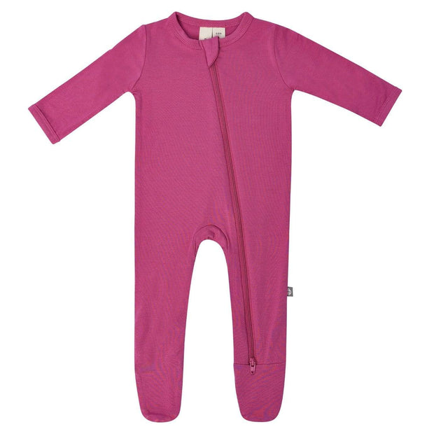Zippered Footie in Sangria - Kyte Baby