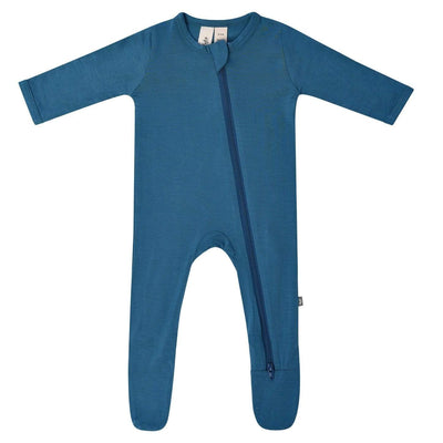 Zippered Footie in Teal - Kyte Baby