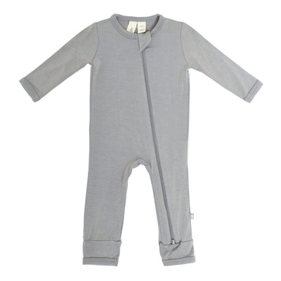 Zippered Romper in Chrome - Kyte Baby