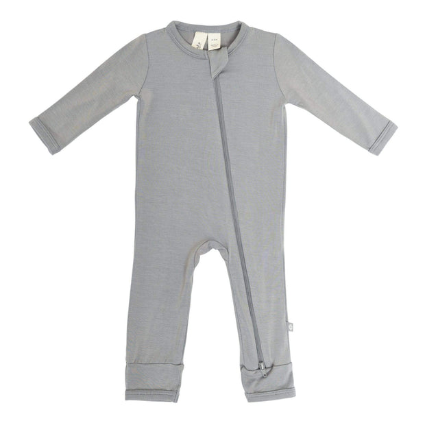 Kyte BABY Layette Zippered Romper in Chrome
